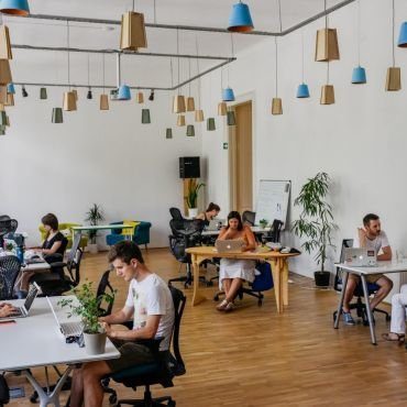 Bright and airy coworking space with super comfy, high-end chairs.